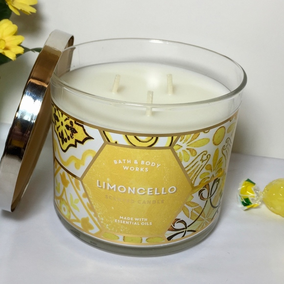 2 Bath /& Body Works LIMONCELLO  Scented filled Candle 14.5oz NEW